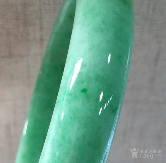 翡翠冰糯种苹果绿手镯