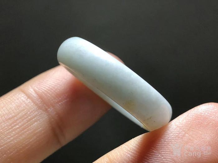 清 和田 白玉 籽料 指环 带洒金皮 手工打磨图6