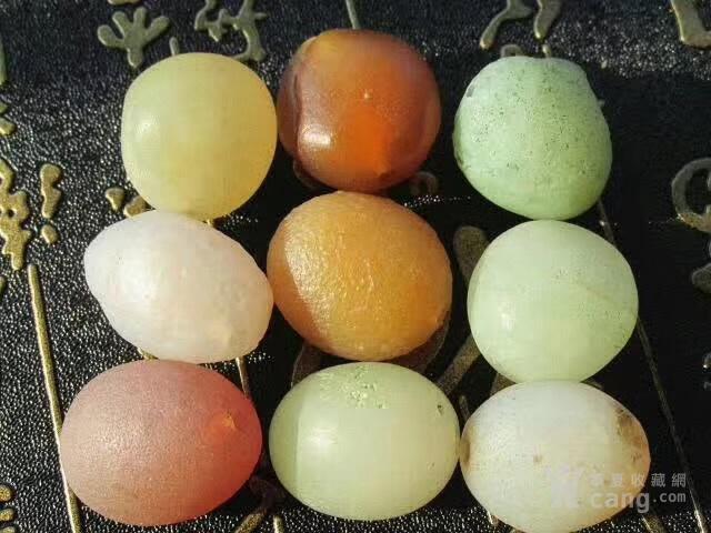 有些年头 天然 戈壁七彩 糖球玛瑙 个个规整图4