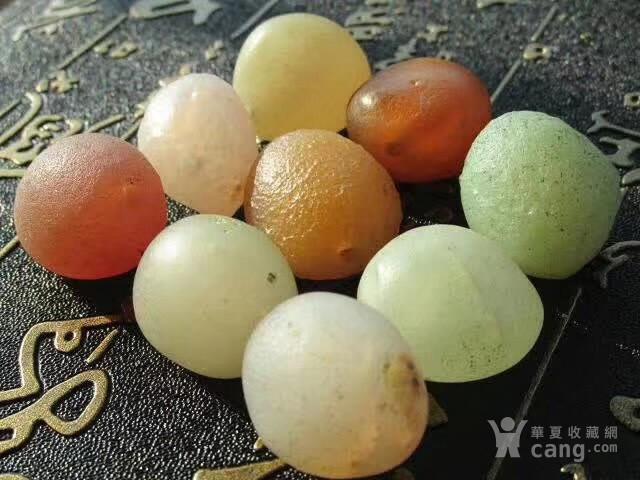 有些年头 天然 戈壁七彩 糖球玛瑙 个个规整图6
