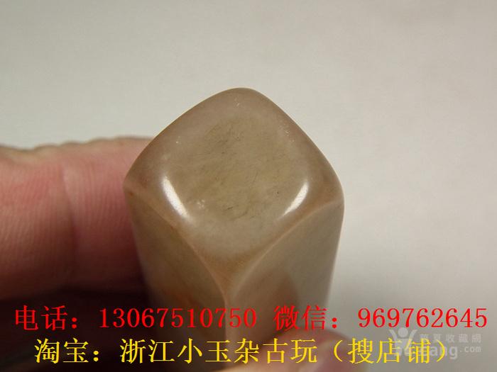 老淡色寿山石浮雕花鸟纹长方形印章图12