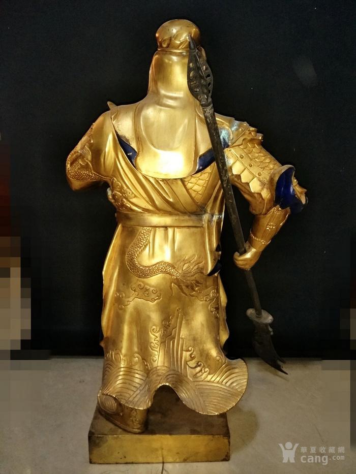 鎏金 关公造像