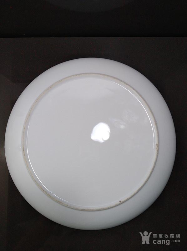 高白泥薄胎单色大盘