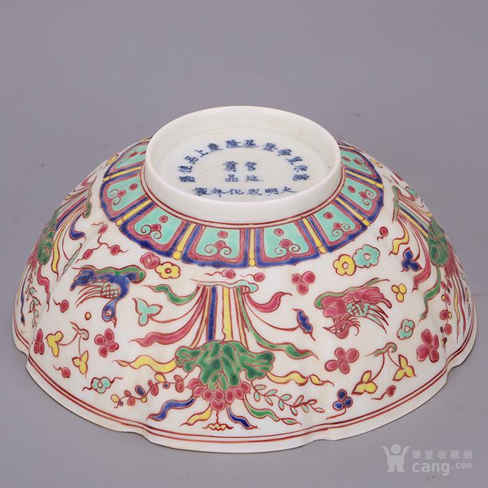 明 成化年鸳鸯戏水纹薄胎碗