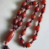 玛瑙串珠项链