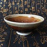 宋 吉州窑酱釉白覆轮茶盏