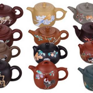 十二生肖珐琅紫砂壶套组 收藏价值收藏价格面议
