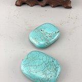 两颗老松石挂件B2364
