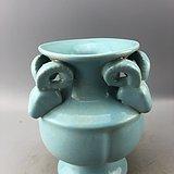 蓝釉瓷瓶C0577