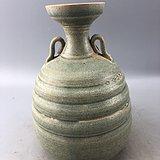 蓝釉开片瓷瓶C0584
