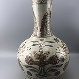 青花描金大瓷瓶C0600