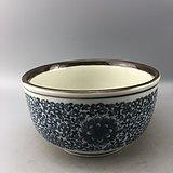 青花花卉瓷碗C0607