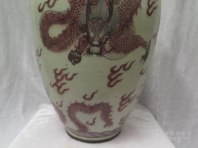 釉里红龙纹罐