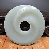 乡下收来的和田玉旋纹玉璧AA2105玉器古玩直径5.5厘米