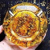 波罗的海天然蜜蜡琥珀原石镶嵌高档烟灰缸摆件!
