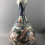盘龙青花瓷瓶C0639