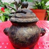 清代 文房铜器象耳小熏炉
