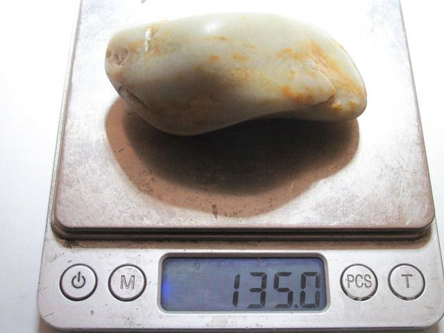 正宗 新疆 玉龙河 和田玉 枣红皮籽料 玉质细腻 手感油润图10