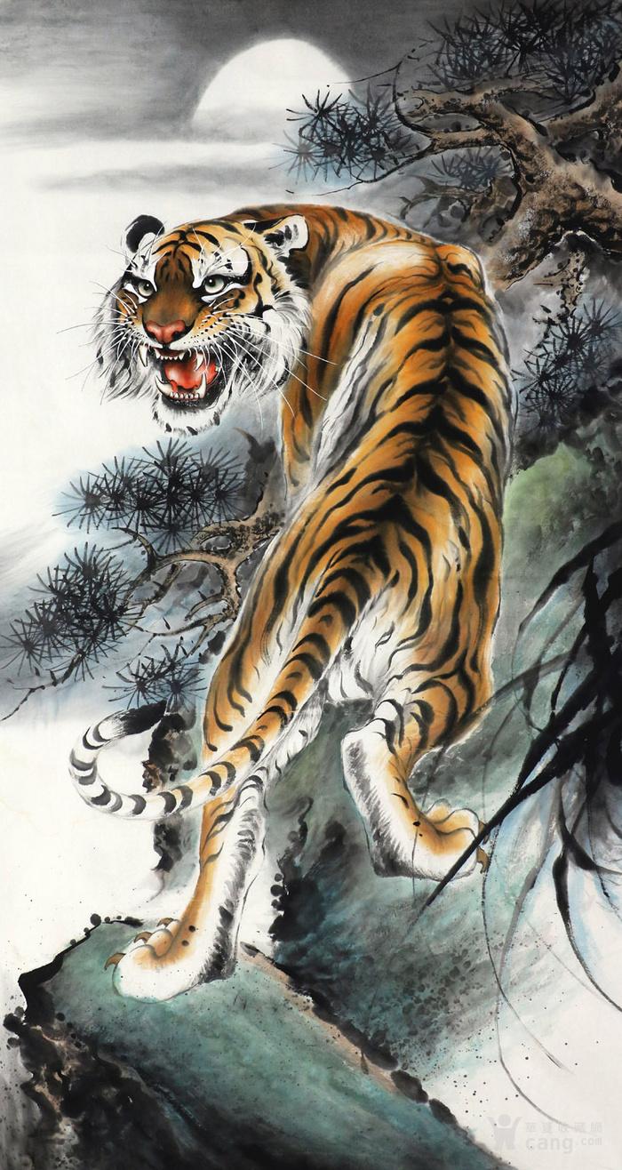 壁纸 动物 国画 虎 老虎 桌面 700_1316 竖版 竖屏 手机
