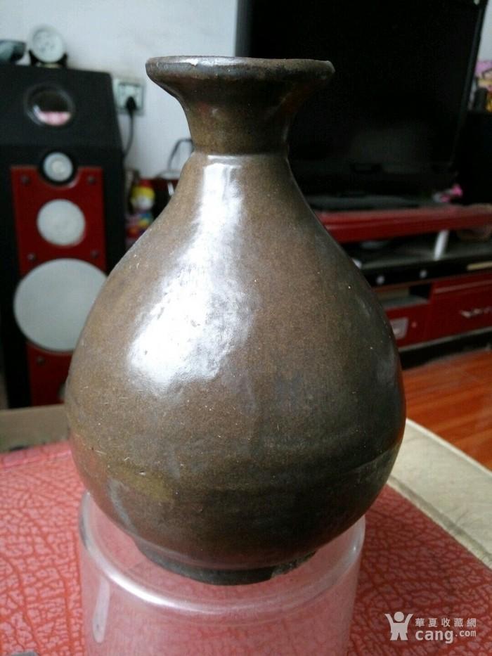 茶叶沫玉壶春瓶  已鉴定