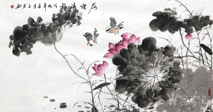 *子君纯手绘国画花鸟字画收藏客厅三尺小写意花鸟画