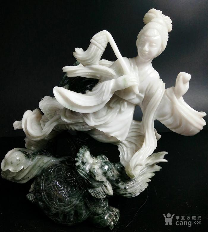 建国初期 工艺美术合作社玉雕翡翠飞仙纳吉祥摆件