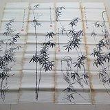 四联老画竹子