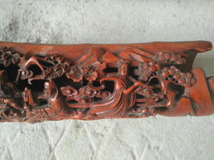 民国时期精品竹根雕八仙过海大摆件