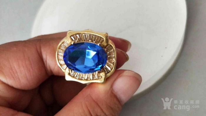 清代传世天然蓝宝石戒指