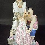 九十年代精品潮州美术瓷    大丰收 双得利