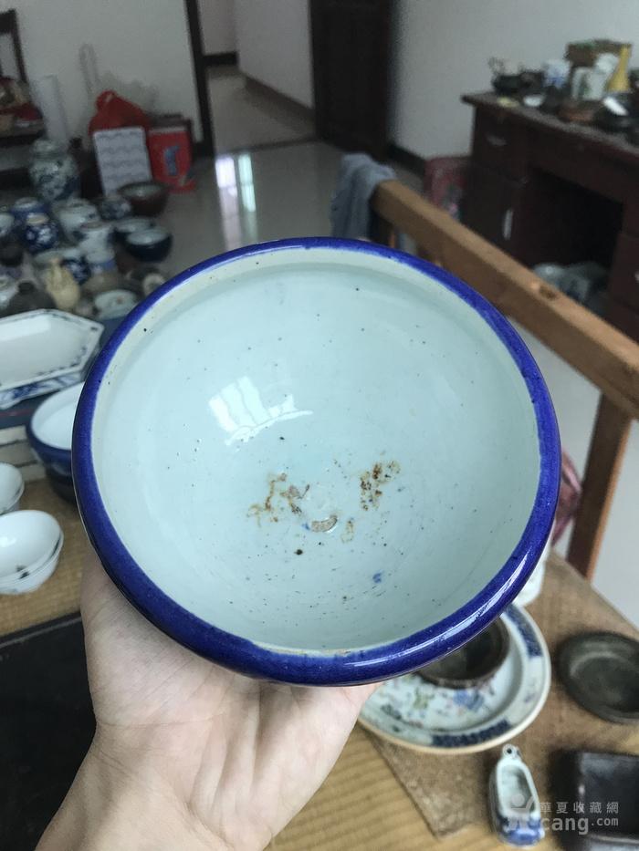 清季蓝笔洗
