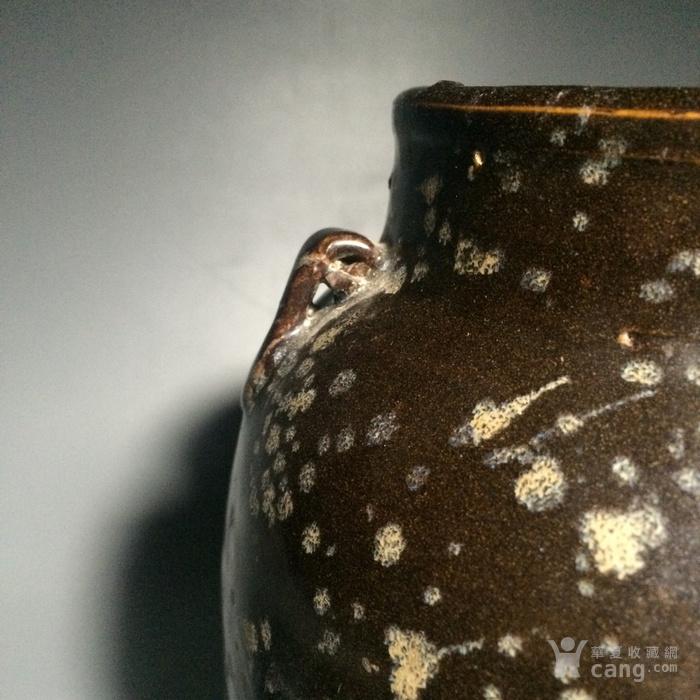 老吉州窑 玳 瑁 双耳罐