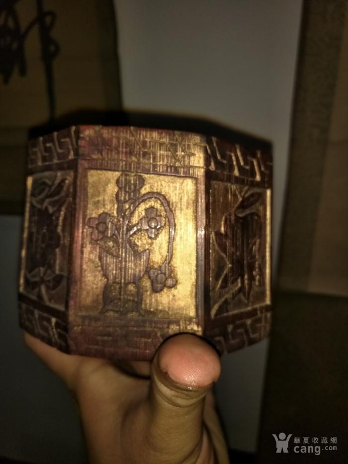 民国八楞带工老竹盒