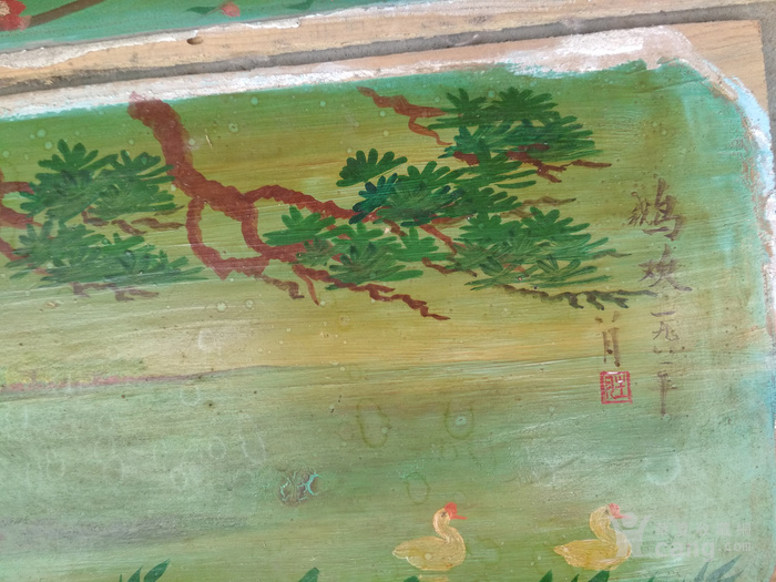 木板风景画挂匾图片