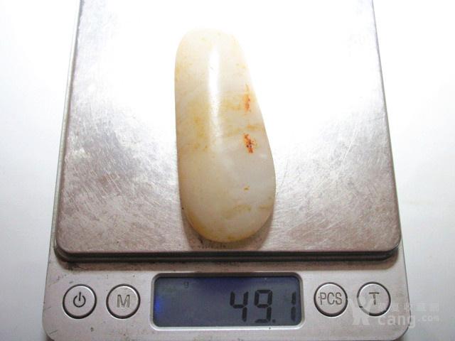 正宗 新疆玉龙河 洒金披 近羊脂级 一级白籽料图3