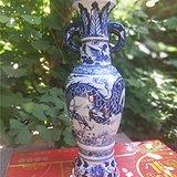 龙凤象耳青花瓶