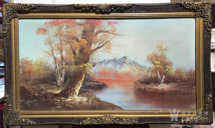 原框老油画图1