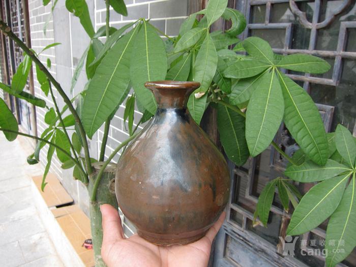 清代酱油玉壶春瓶