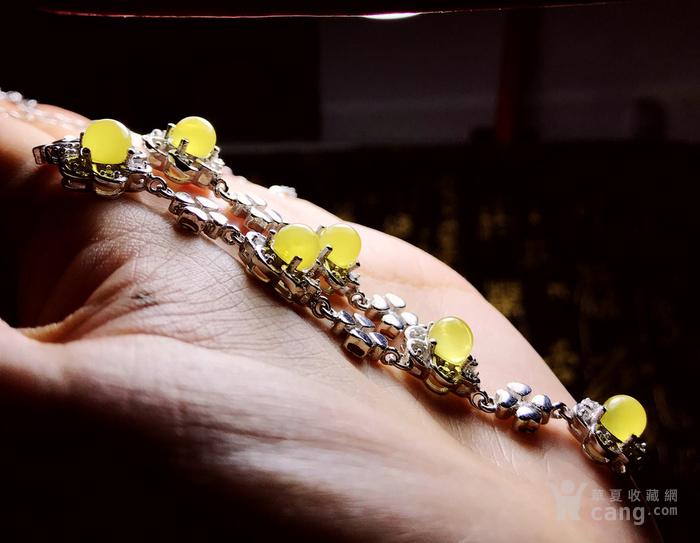 金黄蜜蜡项链!波罗的海天然原矿蜜蜡金绞蜜正圆珠银镶项链!图10