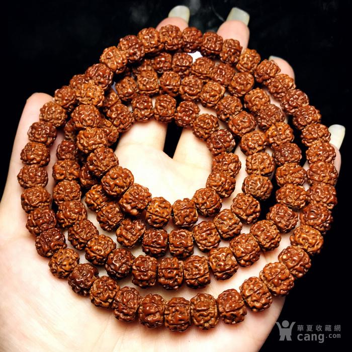 包浆漂亮!朋友纯手刷刷了三年的藏式金 刚菩提108佛珠手串图1