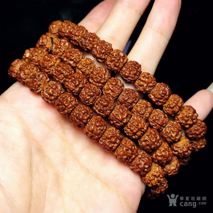 包浆漂亮!朋友纯手刷刷了三年的藏式金 刚菩提108佛珠手串图4