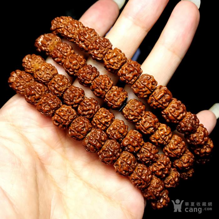 包浆漂亮!朋友纯手刷刷了三年的藏式金 刚菩提108佛珠手串图10