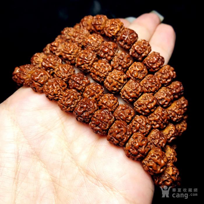 包浆漂亮!朋友纯手刷刷了三年的藏式金 刚菩提108佛珠手串图12