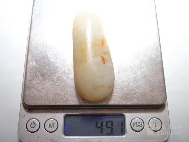 正宗 新疆玉龙河 洒金披 近羊脂级 一级白籽料图9