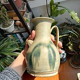 唐    长沙窑绿釉    执壶