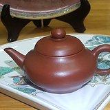 枫溪老安顺手拉朱泥茶壶