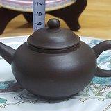 枫溪孟臣款手拉朱泥茶壶