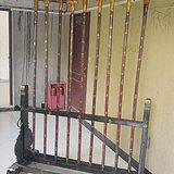 老木器架大漆彩绘木器架