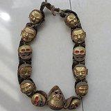 佛教密宗十三骷髅鎏金法器 西藏密宗法器 佛教法器镇宅聚财法宝