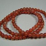 近现代四川凉山冰飘柿子红玛瑙圆珠项链一串